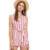 Red Striped Vacation Play Suit - Delfini Swimwear