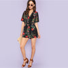 Botanical V neck Play Suit - Delfini Swimwear