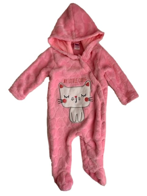 0-3 Months Long Sleeve Embroidered Pink Babygrow /Onesie - Ackermans-Babygrows-Wear it Again SA
