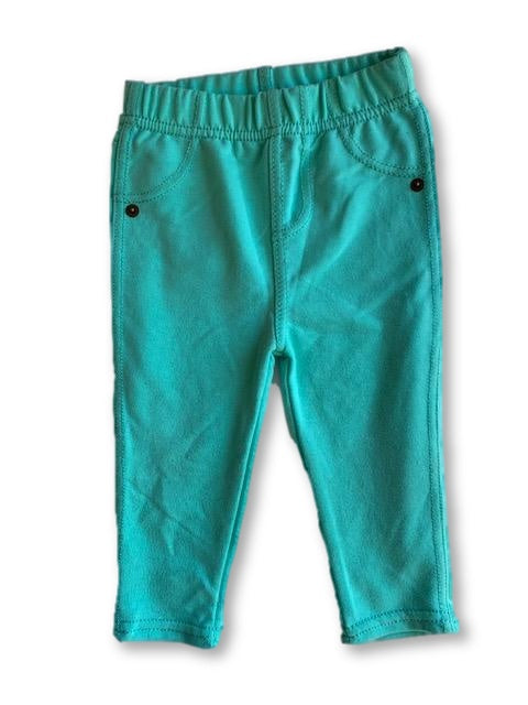 6-12 Months Turquoise Pants - Cuddlesome-Bottoms-Wear it Again SA