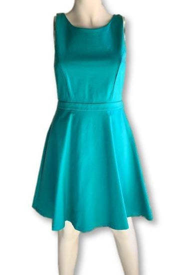 Size 10 Turquoise Swing Dress - Forever New-Dresses-Wear it Again SA
