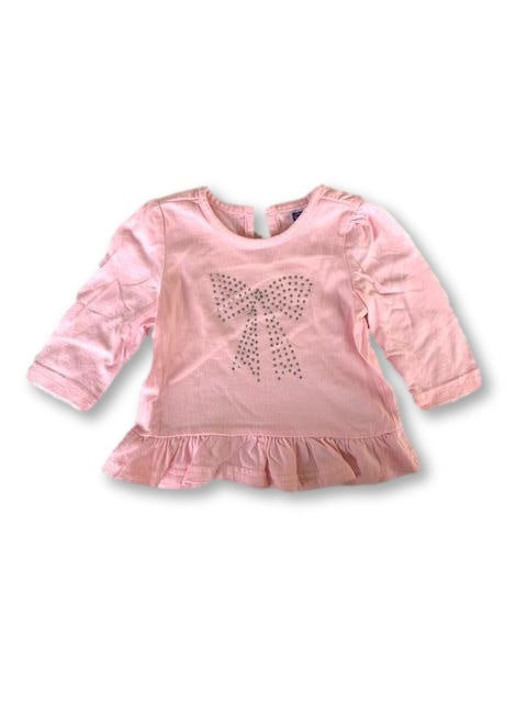 0-3 Months Long Sleeve Pink Top - Ackermans-Tops-Wear it Again SA
