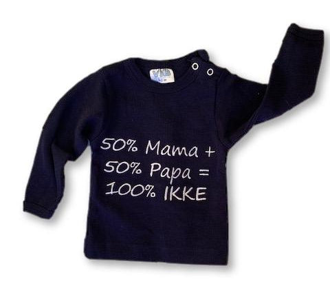 0-3 Months Navy Long Sleeve Top with Embroidered White Words - VIB-Tops-Wear it Again SA