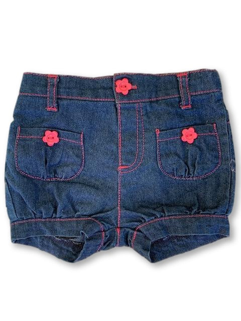 0-3 Months Denim Shorts - Cuddlesome-Shorts-Wear it Again SA