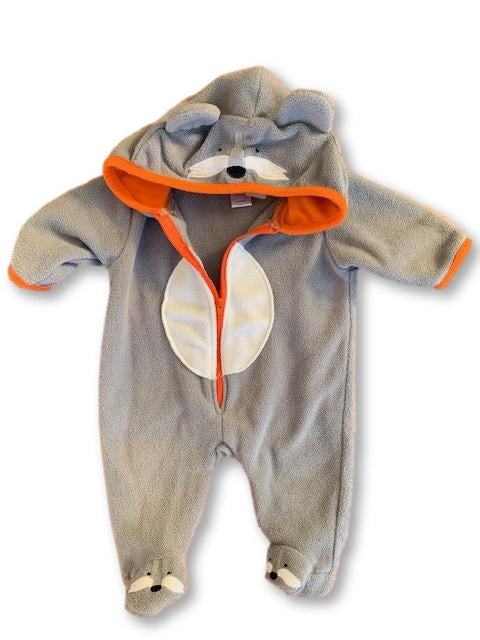 Newborn 2kg+ Grey Character Winter Body Suit - Ackermans-Babygrow-Wear it Again SA