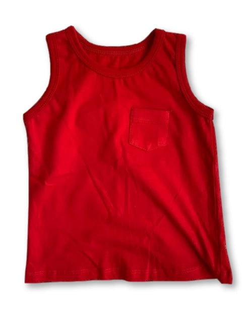 6-12 Months Red Sleeveless Top - Woolworths-Tops-Wear it Again SA