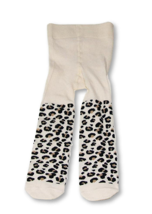 1-6 Months Leopard Print Tights - Real Baby-Socks-Wear it Again SA