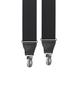 clip-on-suspenders - Big & Tall Black Moire Clip-on Suspenders - KK & Jay Supply Co.