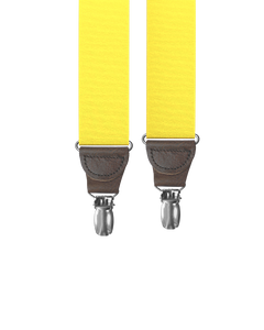 clip-on-suspenders - Bright Yellow Grosgrain Clip-on Suspenders - KK & Jay Supply Co.