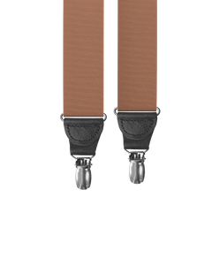 clip-on-suspenders - Coffee Grosgrain Clip-on Suspenders - KK & Jay Supply Co.