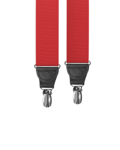 clip-on-suspenders - Big & Tall Cranberry Grosgrain Clip-on Suspenders - KK & Jay Supply Co.