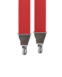 clip-on-suspenders - Cranberry Grosgrain Clip-on Suspenders - KK & Jay Supply Co.