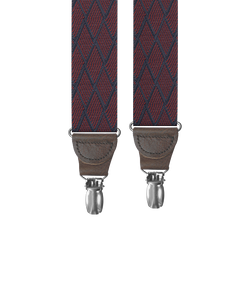 clip-on-suspenders - Big & Tall Devoe Maroon Clip-on Suspenders - KK & Jay Supply Co.