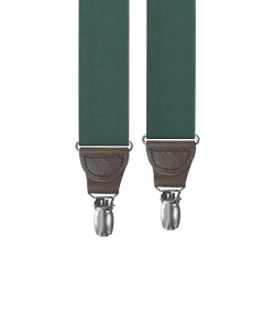 clip-on-suspenders - Big & Tall Forest Grosgrain Clip-on Suspenders - KK & Jay Supply Co.