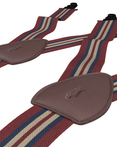 shirttail garters - Freetown Crimson/Navy - KK & Jay Supply Co.