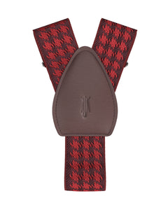 shirttail garters - Houndstooth Red - KK & Jay Supply Co.