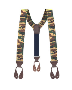 suspenders - Apache Tan Camo Suspenders - KK & Jay Supply Co.