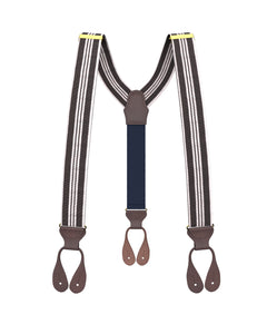 suspenders - Barker Stripe Suspenders - KK & Jay Supply Co.