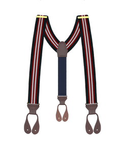 Clinton Stripe Suspenders - KK & Jay Supply Co.