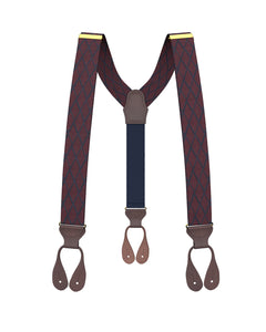 suspenders - Devoe Maroon Suspenders - KK & Jay Supply Co.