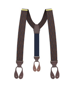 suspenders - Big & Tall Devoe Ochre Suspenders - KK & Jay Supply Co.