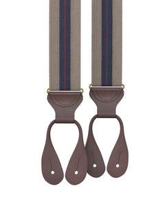 suspenders - Big & Tall Elder Stripe Suspenders - KK & Jay Supply Co.
