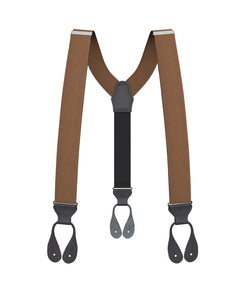 suspenders - Light Brown Grosgrain Suspenders - KK & Jay Supply Co.