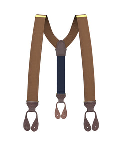 suspenders - Big & Tall Light Brown Grosgrain Suspenders - KK & Jay Supply Co.