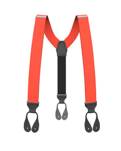 suspenders - Big & Tall Red Grosgrain Suspenders - KK & Jay Supply Co.