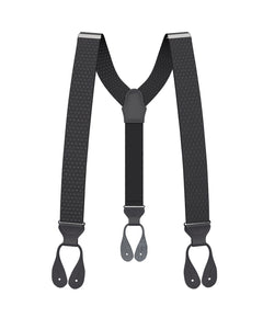 suspenders - Big & Tall Jackson Dot Black Suspenders - KK & Jay Supply Co.