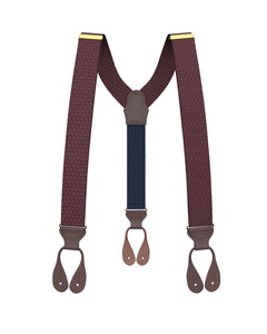 suspenders - Big & Tall Jackson Dot Maroon Suspenders - KK & Jay Supply Co.