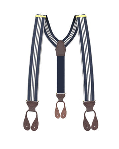 suspenders - Big & Tall Naval Stripe Suspenders - KK & Jay Supply Co.