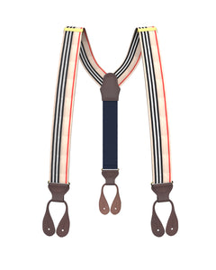 suspenders - Big & Tall Riverdale Stripe Suspenders - KK & Jay Supply Co.