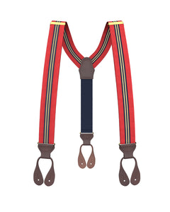 suspenders - Big & Tall Sheridan Stripe Suspenders - KK & Jay Supply Co.