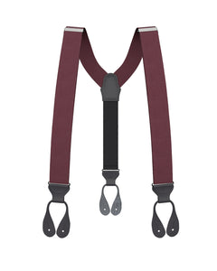 suspenders - Maroon Silk Suspenders - KK & Jay Supply Co.