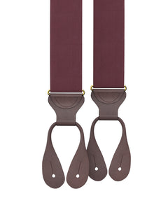 suspenders - Big & Tall Maroon Silk Suspenders - KK & Jay Supply Co.