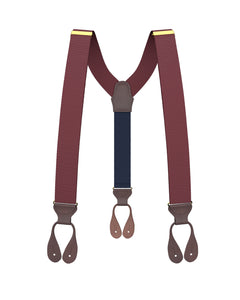 suspenders - Big & Tall Burgundy Grosgrain Suspenders - KK & Jay Supply Co.