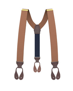 Coffee Grosgrain Suspenders - KK & Jay Supply Co.
