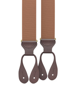 suspenders - Big & Tall Coffee Grosgrain Suspenders - KK & Jay Supply Co.