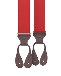 suspenders - Big & Tall Cranberry Grosgrain Suspenders - KK & Jay Supply Co.