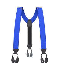 suspenders - Big & Tall Electric Blue Grosgrain Suspenders - KK & Jay Supply Co.