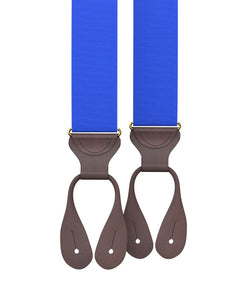 suspenders - Electric Blue Grosgrain Suspenders - KK & Jay Supply Co.