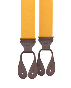 suspenders - Big & Tall Gold Grosgrain Suspenders - KK & Jay Supply Co.