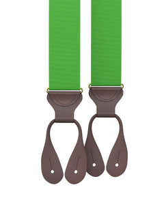 suspenders - Big & Tall Kelly Green Grosgrain Suspenders - KK & Jay Supply Co.