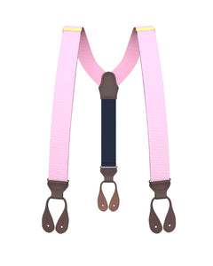 suspenders - Big & Tall Light Pink Grosgrain Suspenders - KK & Jay Supply Co.