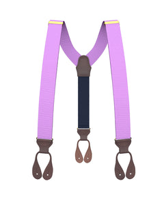 suspenders - Big & Tall Light Purple Grosgrain Suspenders - KK & Jay Supply Co.