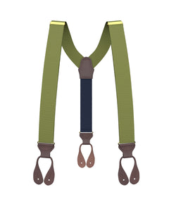 suspenders - Big & Tall Olive Grosgrain Suspenders - KK & Jay Supply Co.