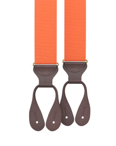 suspenders - Big & Tall Orange Grosgrain Suspenders - KK & Jay Supply Co.