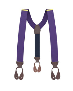 suspenders - Big & Tall Purple Grosgrain Suspenders - KK & Jay Supply Co.
