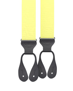 Pale Yellow Grosgrain Suspenders - KK & Jay Supply Co.